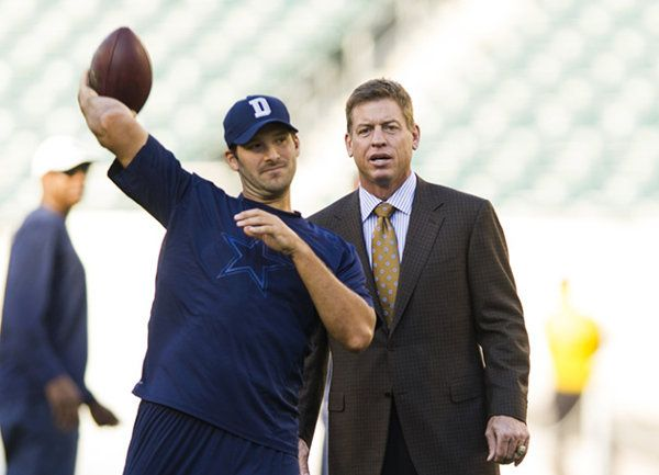 Troy Aikman is 'concerned' about Tony Romo's back