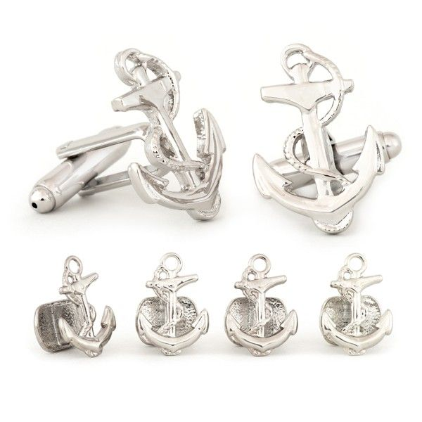 anchor cuff links studs set anson jewelry grooms