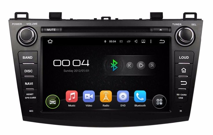 """1024*600 Quad Core HD 2 din 8"""" Android 5.1 Car PC Radio DVD for MAZDA 3 2009-2012 With GPS 3G/WIFI Bluetooth TV USB Mirror link"""