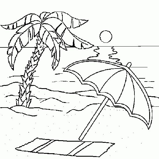 beach coloring pages for adults beach coloring pages for adults - Palm Tree Coloring Pages Print