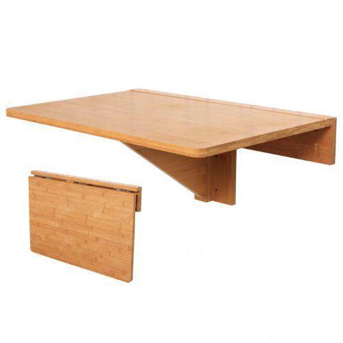 sobuy fwt031 n 100 bambou naturel table murale - Table Murale Rabattable Alinea