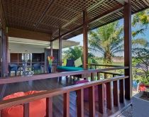 Bendega Nui - Balcony with pool view.  #canggu #bali #balivillas #luxuryvillas