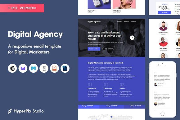 Email Templates Email Templates Digital Agencies Music Websites