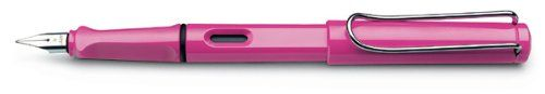 LAMY Safari Fountain Pen Pink Medium Nib (L13PKM)