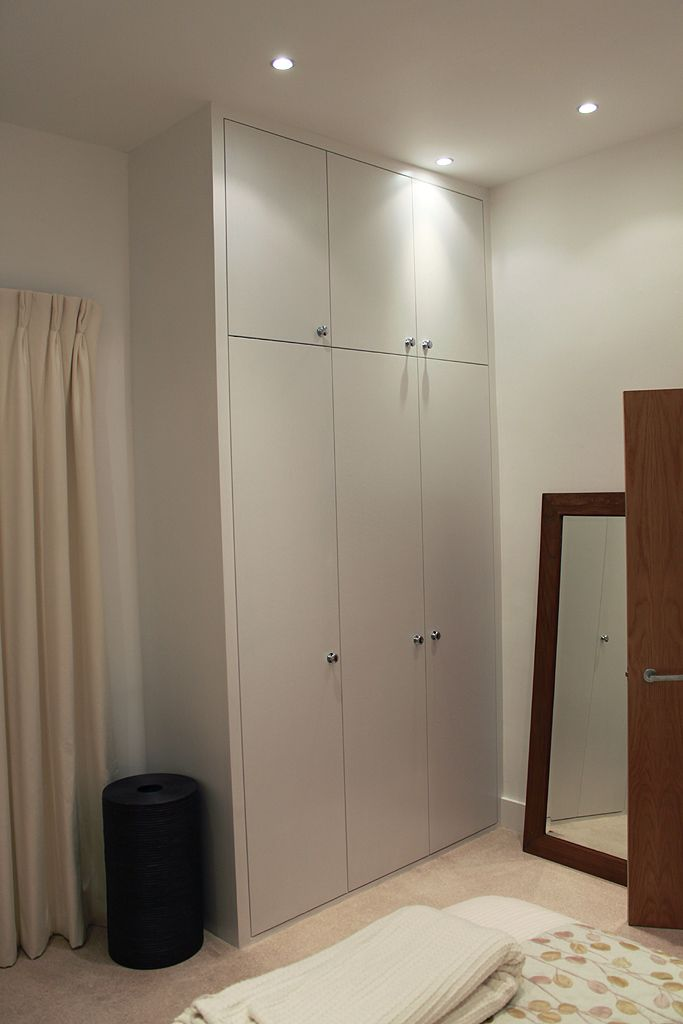 contemporary fitted wardrobe in west hampstead