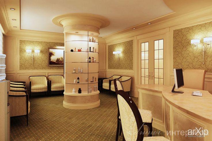 Интерьер салона красоты: интерьер, зd визуализация, прихожая, холл, вестибюль, фойе, классицизм, ампир, неогрек, палладианство, салон красоты, спа, парикмахерская, 30 - 50 м2, интерьер #interiordesign #3dvisualization #entrancehall #lounge #lobby #lobby #classicism #beautysalon #spa #hairsalon #30_50m2 #interior arXip.com