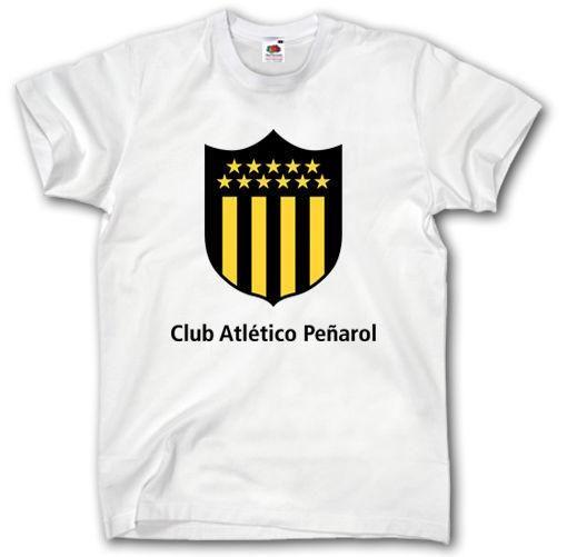 ATLETICO PENAROL MONTEVIDEO T SHIRT Penarol FOOTBALLER CAMISETA FUTBOL URUGUAY Short Sleeve T-Shirt Free Shipping