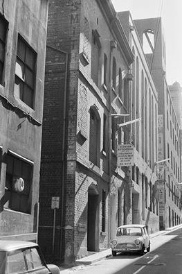 Hosiers Lane, Melbourne 1972