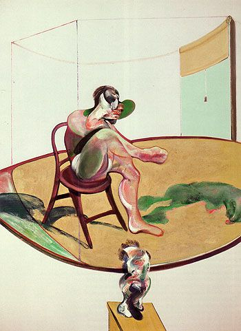 Francis-Bacon-Two-Studies-of-George-Dyer-with-Dog-1968-