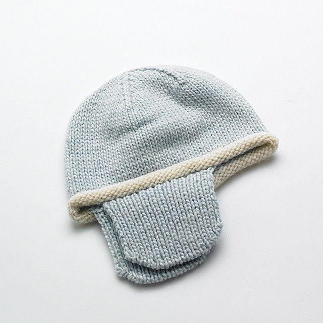 #Merino Baby hat - Pale Blue | Flordemano