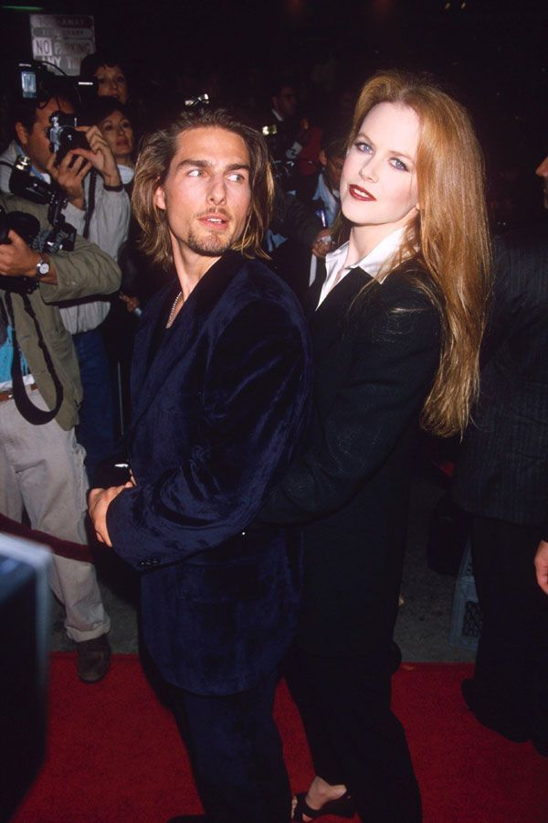 Tom Cruise & Nicole Kidman, 1994We all had a goth phase. #refinery29 http://www.refinery29.com/2015/08/92489/90s-red-carpet-celebrity-pictures#slide-14