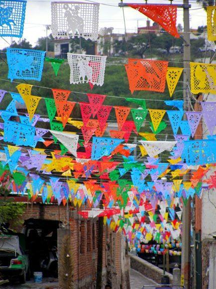 Mexican Paper Banners Valle de Maiz, Mexico
