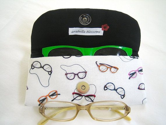 Handmade Fabric Eye Glasses Holder by ArabellaBlossomsBags on Etsy