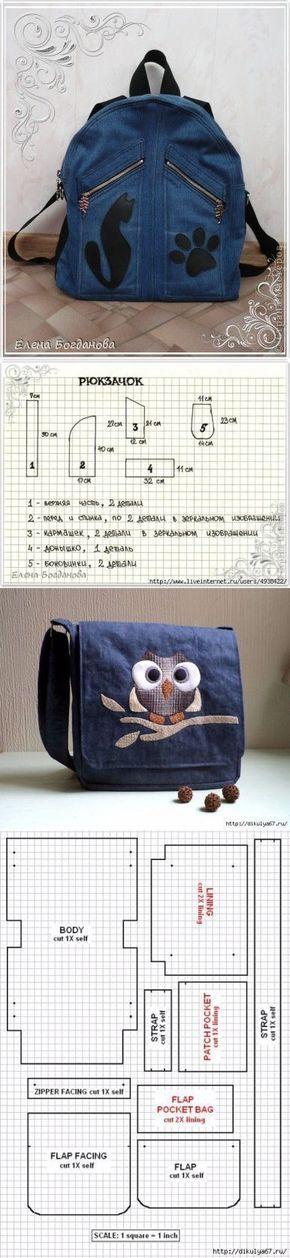 Переделки: Джинсовые сумки — Рукоделие ...<3 Deniz <3: