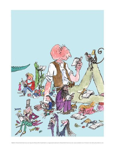 Happy Roald Dahl Day!  Roald Dahl Characters Reading Posters by Quentin Blake at AllPosters.com