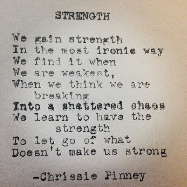 Strong Poetry Quotes: Strength. Rebuild Series No.