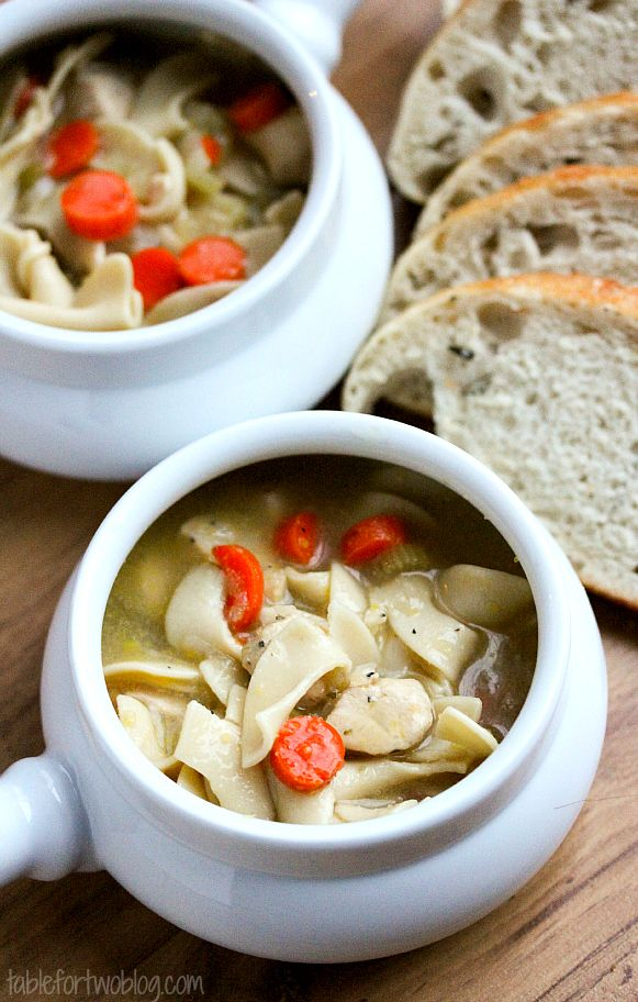 comforting chicken noodle soup for those winter time blues or if you're under the weather!