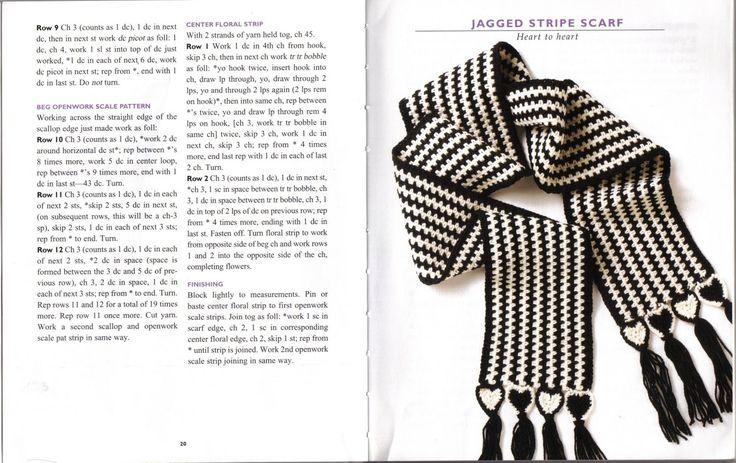1875 best Bufandas tejidas a Crochet. images on Pinterest | Crochet ...