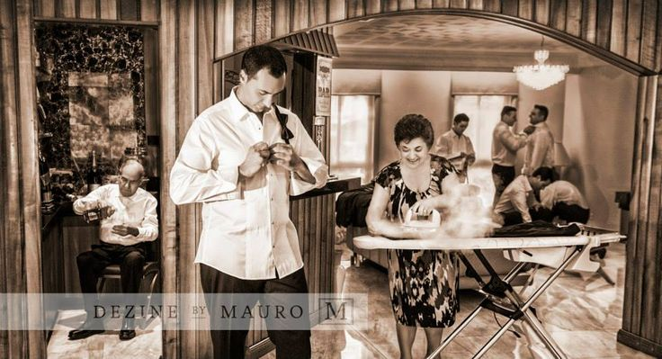 Wedding Photography Sepia Italian family getting ready Award winning photograph right here!
