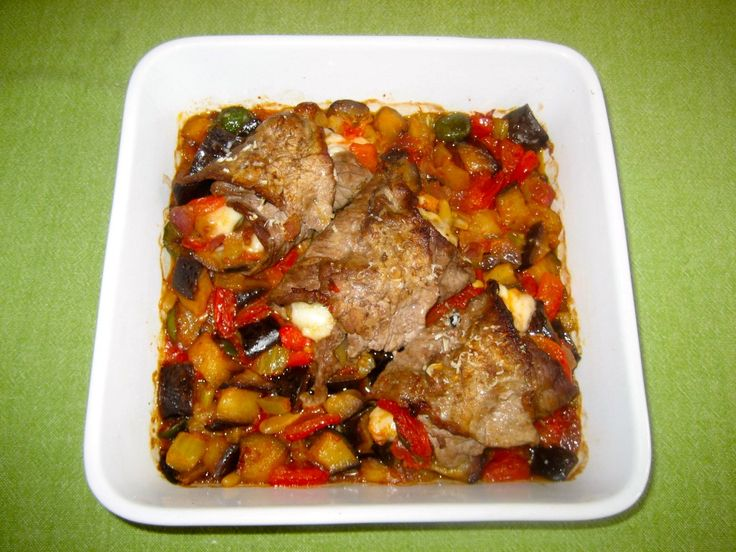 Stuffed Veal Rolls with Caponata