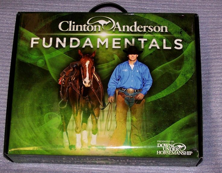 Clinton Anderson Horse Training Fundamentals DVD Kit Arena Mates Philosophy Book