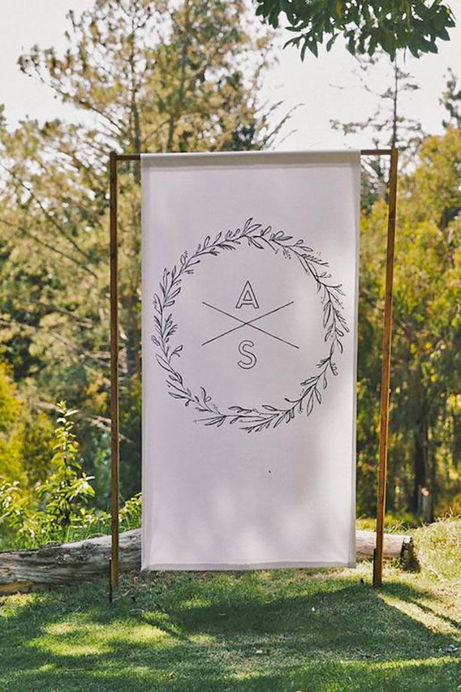 Ways To Use Wedding Monogram In Big Day Decor ❤ See more: http://www.weddingforward.com/wedding-monogram/ #weddings