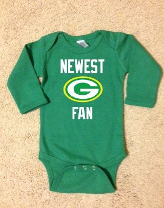 Green Bay Packers Football Onesie Baby Packers by SSCBOWTIQUE