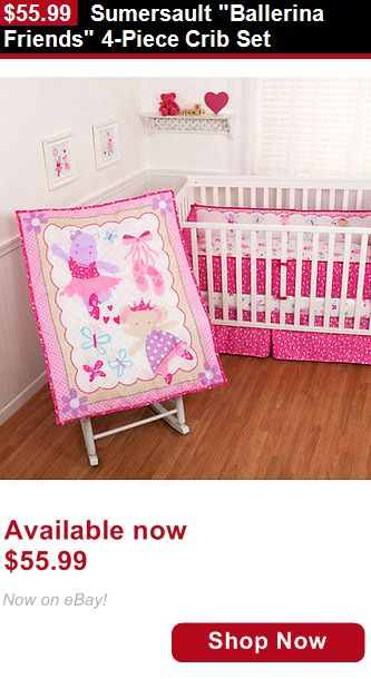 Nursery Furniture Sets: Sumersault Ballerina Friends 4-Piece Crib Set BUY IT NOW ONLY: $55.99