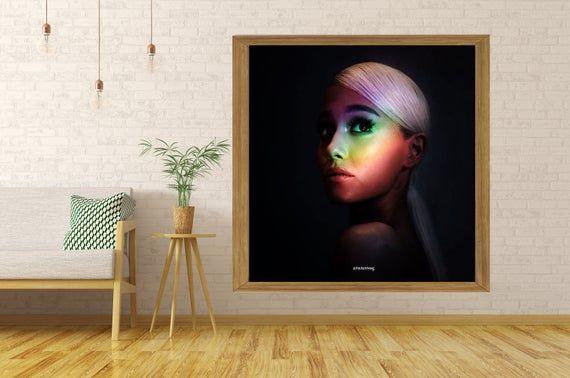Ariana Grande No Tears Left To Cry 2018 Music Album Cover Silk Art