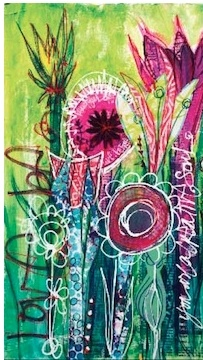 Traci Bautista loves color and knows how to use it. The class I took from her was packed with creative methods and ideas. I have several of the books that were Traci's or that she was part of.    Traci Bautista----Mixed Media