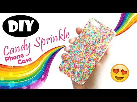 DIY Resin Candy Sprinkle Phone Case Tutorial - YouTube