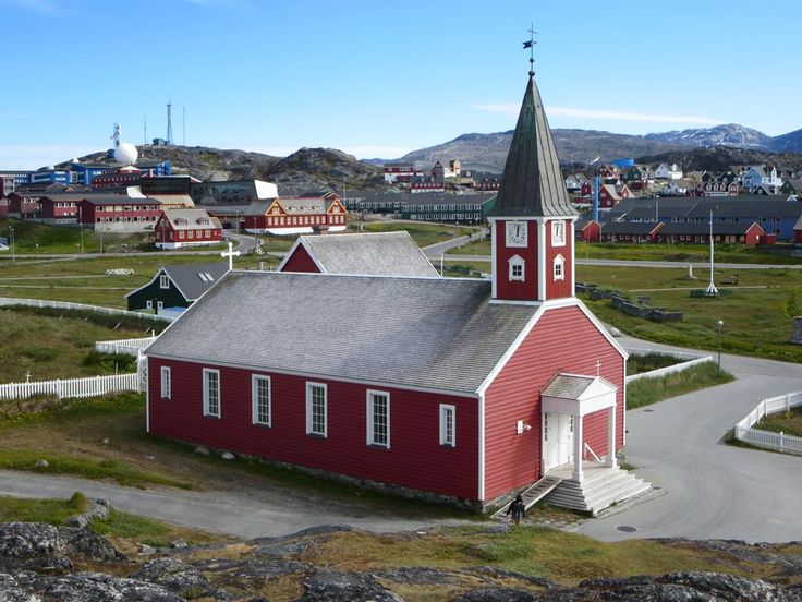 Nuuk Cathedral (1849) is the head church of the Lutheran Diocese of Greenland.
