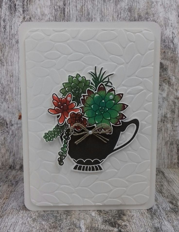 'Oh So Succulent' , 'Succulent Framelits Dies' ,'A Nice Cuppa', , Stampin'Up! gemaakt door www.stamp-ing.blogspot.nl ,Stamp-ing Rilland