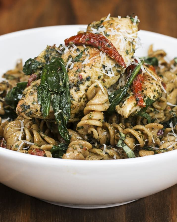 Try This Easy One-Pot Pesto Chicken Pasta This Weekend