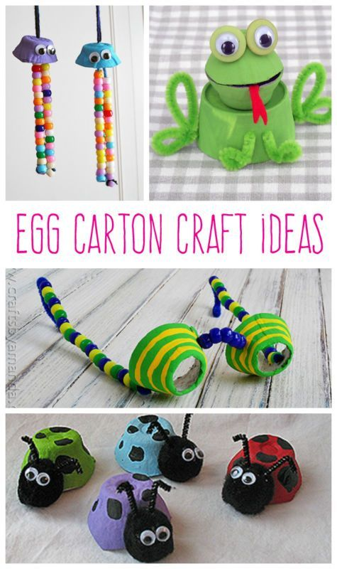 #Crafts to Make From All Those Egg Cartons!