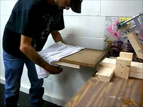 how to build a homemade screen printing press - YouTube