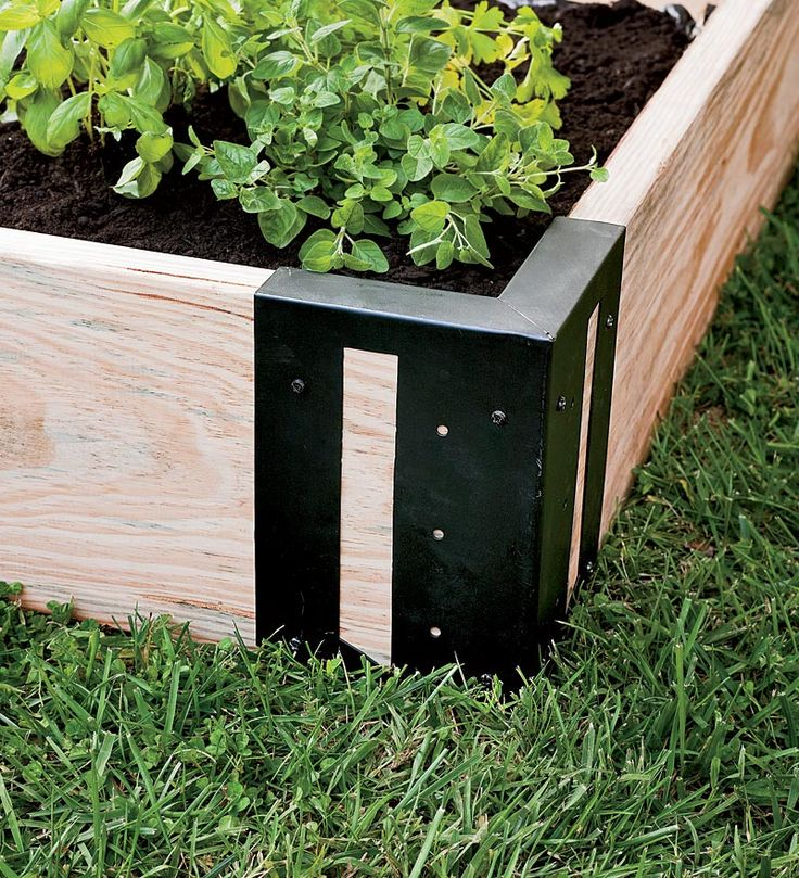 Heres one way to make a garden box. Set of 4 Solid Steel Raised Bed Corner Brackets