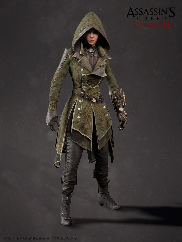 Assassin's Creed Syndicate - Lydia Frye Suit, Hugues Thibodeau on ArtStation at https://www.artstation.com/artwork/KRmXo