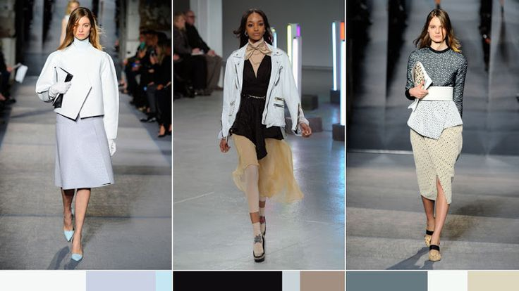 2. Below are images from one of their most recent color inspirations: NYFW FW 2013 key colors + color messages. Go here to view their website and to view the rest of their color trends and trend/color editorial. For a more tailored color analysis, forecast and research services, you can email them at color @TheUltraBright.com.com.