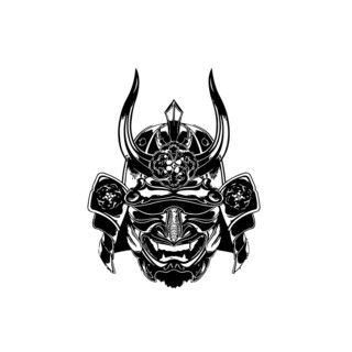Kabuto mask vinyl wall art