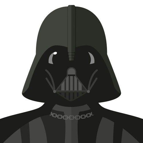 Flat design Darth Vader