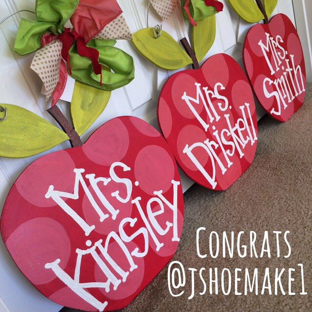 Congratulations @jshoemake1! You're the winner of the apple door hanger giveaway! Email Megan at meganburtdesign@gmail for your personalization. Thanks for entering everyone!!!