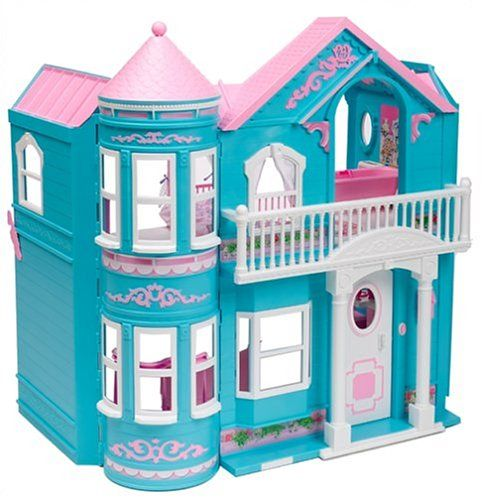 Barbie Dreamhouse   Barbie's Dream House -- I had (still do) one like this except it was purple. I LOVED that thing!