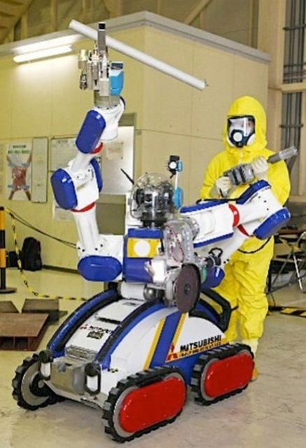 Japan's MHI Unveils MEISTeR Robot For Working In Nuclear Plants - Japan's Mitsubishi Heavy Industries (MHI) has launched a two armed inspection and maintenance robot named  'MEISTeR' for use in the country's nuclear plants. [Click on Image Or Source on Top to See Full News]