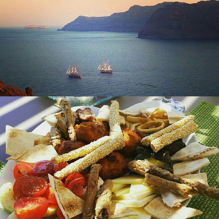 A light lunch with some eye popping view #esperashotel #greece #santorini