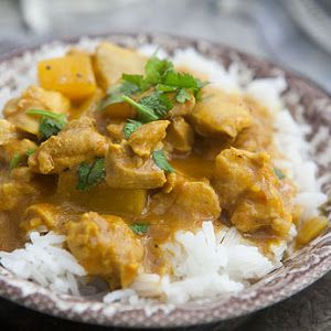 Mango Coconut Curry- Made this with fresh mango from the tree! My best curry attempt yet! Yum :)