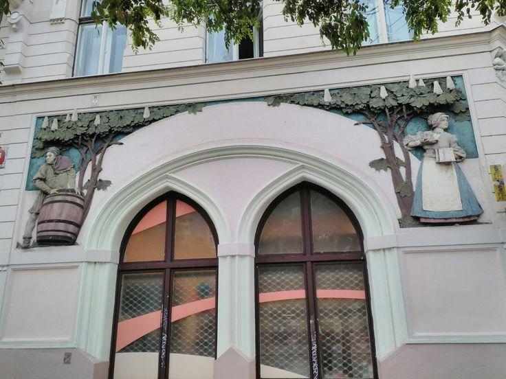 Detail of building, Strossmayerovo Namesti, Prague7