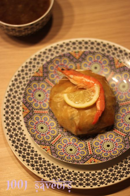 Bonjour à tous, Voici une délicieuse recette que j'ai préparé durant ce ramadan, il s'agit de la pastilla ( ou bastilla) aux poisson et fruits de mer, elle est composée de feuilles de bricks farcies d'un mélange de poisson, calamars et crevettes bien...