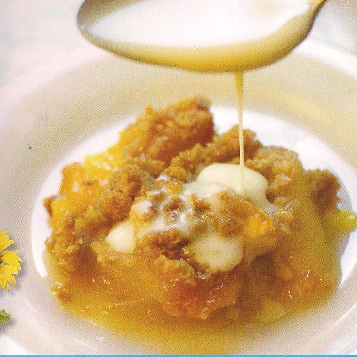 Peach Crisp with Maple Cream Sauce | More Recipes | Pinterest