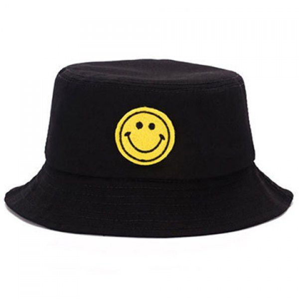 Elegant Cartoon Smile Expression Embroidery Bucket Hat For Men #shoes, #jewelry, #women, #men, #hats, #watches